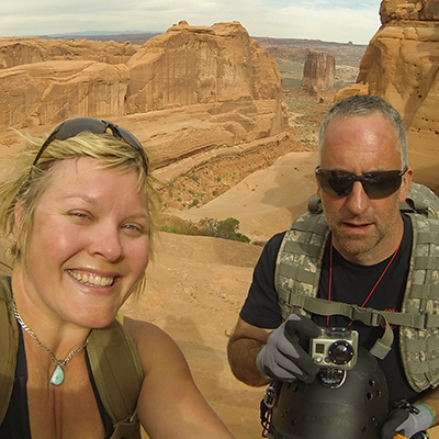 Crew Adventures - Kate Giebink and Cyrus Dietz - Arches Canyoneering, Moab Utah