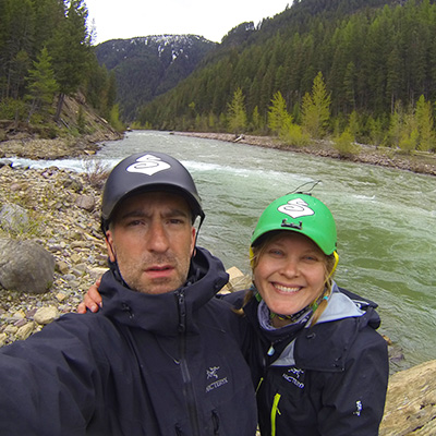 Crew Adventures - Kate Giebink and Cyrus Dietz - Bob Marshall Wilderness Open 2013 - FlatHead River