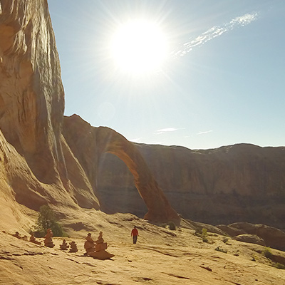 Crew Adventures - Kate Giebink and Cyrus Dietz - Corona Arch Moab, Utah