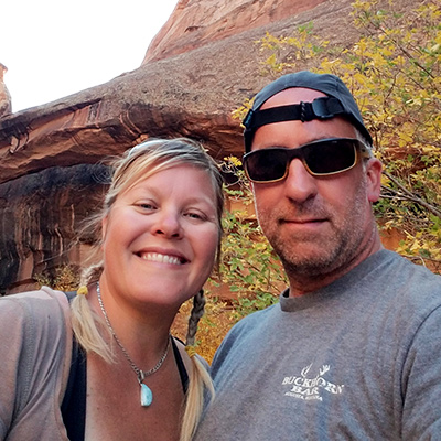 Crew Adventures - Kate Giebink and Cyrus Dietz - Morning Glory Bridge, Moab Utah