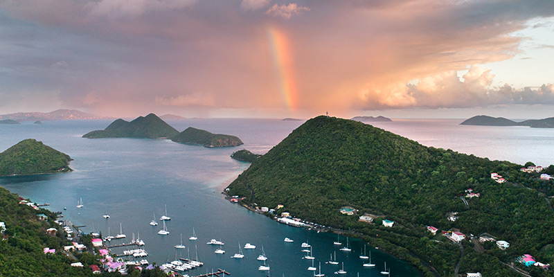 BVI Itineraries Rainbow and Sail boats