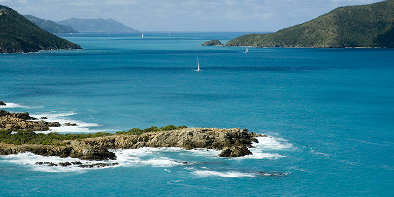 BVI Itineraries View of Guana Island