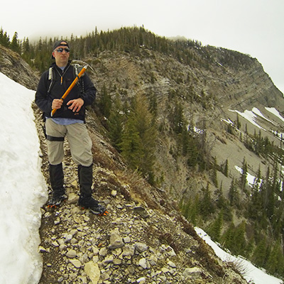 Cyrus with he Ice Ax, Headquarters Pass, Montana