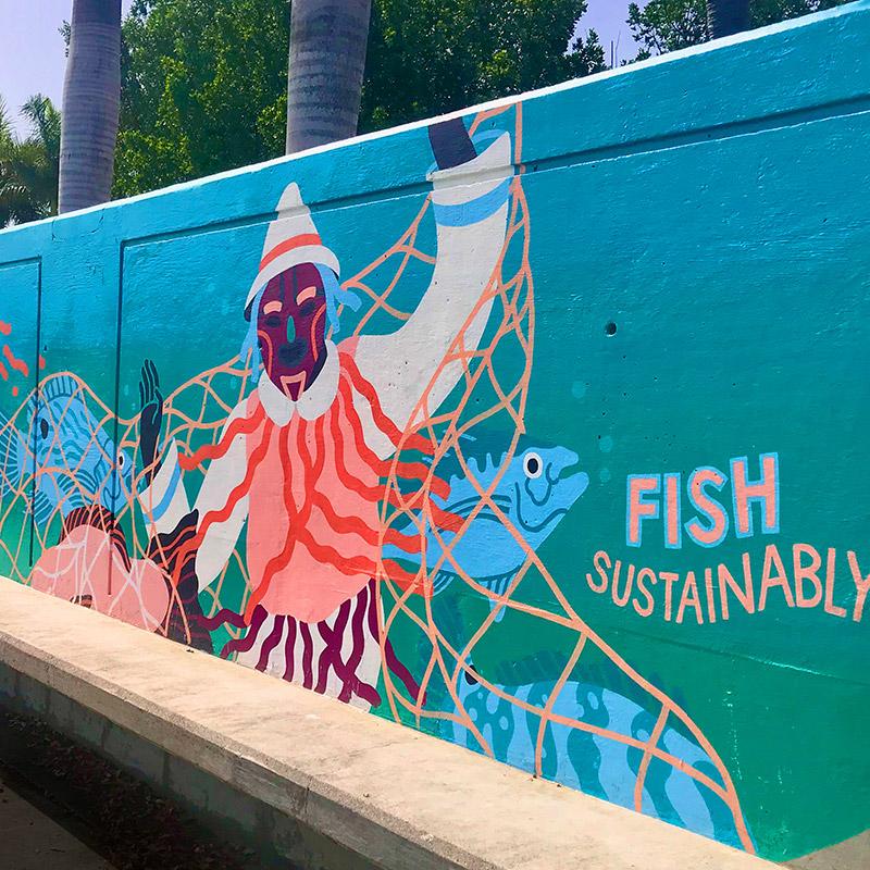 Frederiksted Pier Art - Frederiksted, USVI